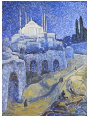 Moské I Blått by Agnes CLEVE