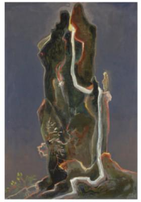 Man Vid Vattenfall by Gösta 'Gan' ADRIAN-NILSSON