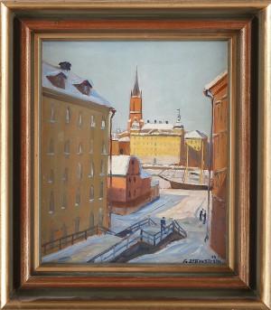 Vy över Riddarholmen by Gunnar ZETTERSTRÖM
