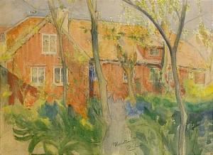 Det Röda Huset I Vårskrud by Carl LARSSON