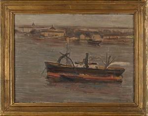 Stockholmsmotiv Från Gamla Stan Mot Skeppsholmen by Vilhelm TÖRNQVIST