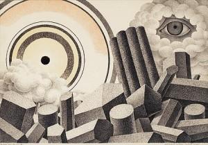 Apokalyptiskt Landskap; Helvetets Paradis by Otto G. CARLSUND
