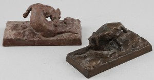 Skulpturer, 2 St by Otto STRANDMAN