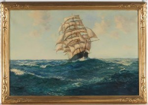A Schooner In Full Sail by Daniel SHERRIN