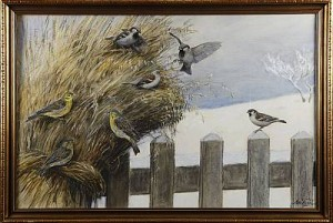 Småfåglar I Kärve by Nils TIRÉN