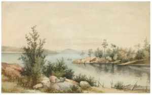 Kustlandskap Med Segelbåtar by Anna PALM DE ROSA