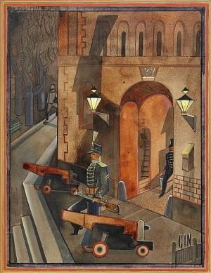 Husarkasern by Gösta 'Gan' ADRIAN-NILSSON