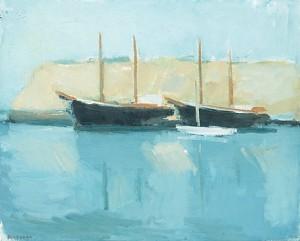 Båtar I Hamn, Hven by Gustav RUDBERG