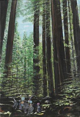I Skogen - Redwood Träden I Carlifornien by Ulf 'Ulf W' WAHLBERG
