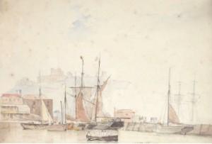 Hamnmotiv Från Dover by Carl Fredrik SØRENSEN