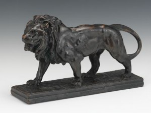 Standing Figure Of A Lion by Antoine-Louis BARYE