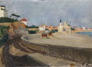 Stadt An Der Spanischen Küste by Leo Von KÖNIG
