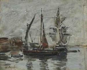 Marine. Voiliers by Eugène Louis BOUDIN