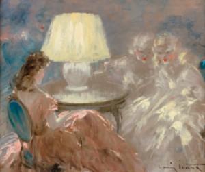 Sous La Lampe by Louis ICART
