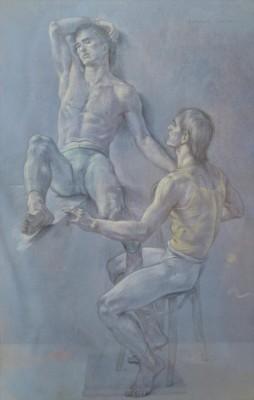 Two Dancers Resting by Paul CADMUS