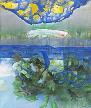 Himmelstecken över Oroat Landskap by Carl Otto HULTÉN