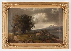 Landskapsbild by Amalia Ulrika Sofia Von 'Amelie' SCHWERIN