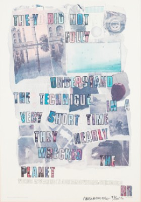 Words Appearing In A Dream Of William Burroughs by Robert RAUSCHENBERG