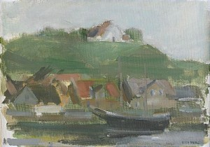 Skuta I Kyrkbackens Hamn - Hven by Gustav RUDBERG