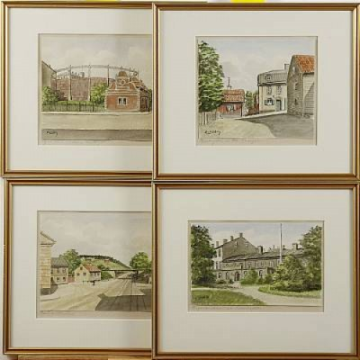 4 St, Motiv Från Nortull, Piperska Muren, Norra Bantorget, Bredagatan, Varierande Storlekar by Frans LINDSTRÖM