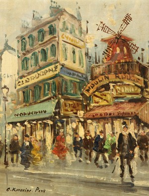Paris, Moulin Rouge by Konstantin Alexeievich KOROVIN