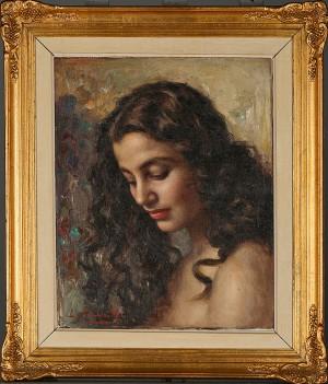 Kvinnoporträtt by Luigi AMATO