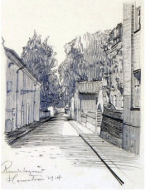 Parisiskt Gatumotiv by Alf WALLANDER