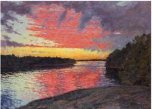 Solnedgång I Skärgården by Gottfrid KALLSTENIUS
