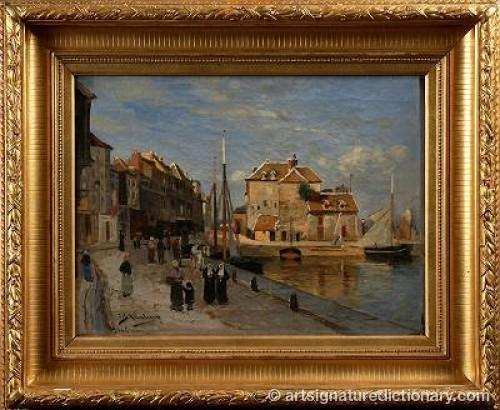 Hamnen I Honfleur by Carl SKÅNBERG