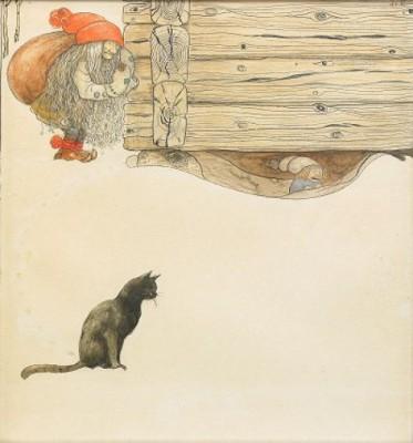 Tomtar Och Katt by John BAUER