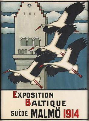 Exposition Baltique, Suède, Malmö 1914 by Ernst NORLIND