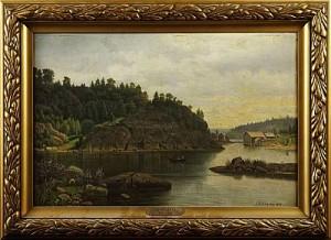 Strandbild Från Skagen by Carl August FAHLGREN