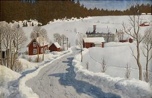 Vinterdag, Lindesberg by Oskar BERGMAN