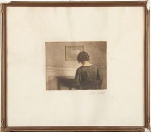 Läsande Kvinna by Peter Vilhelm ILSTED