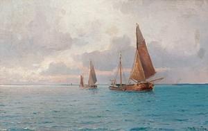 Aftonstämning Till Havs by Ludvig RICHARDE