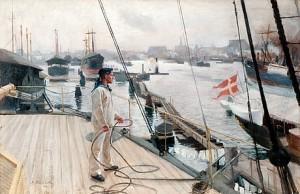 From The Port Of Copenhagen I by Albert EDELFELT