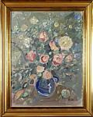 Blomsterstilleben by Åke Wilhelm 'Åwa' ANDERSSON