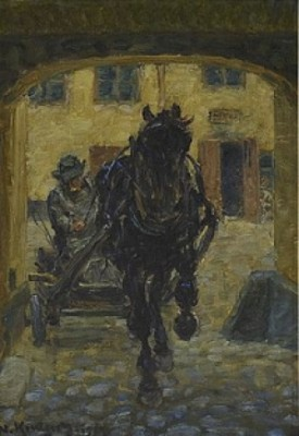 Hästskjuts I Portal by Nils KREUGER
