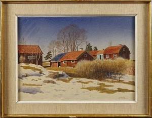 Marsdag Vid Neglinge Gård by Oskar BERGMAN