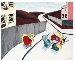 Brinnande Barnvagn Ii by Kristina ELANDER