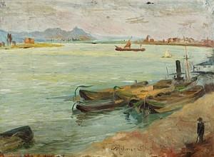 Flodlandskap Från Rhen by Helmer OSSLUND
