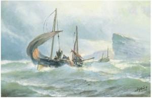 Fiskebåt I Upprört Hav by Jacob HÄGG