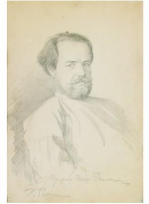 Portrait Of Trofim Petrovich Chaplygin. by Ilya Efimovich REPIN