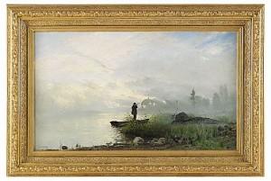 Fågeljakt I Insjön by Arvid Mauritz LINDSTRÖM