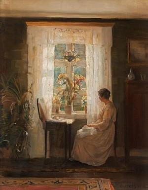 Kvinna I Interiör by Carl HOLSÖE