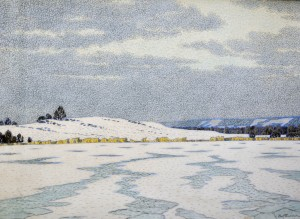 Vinterlandskap Med Is, Höjd Och Skog by Olof THUNMAN