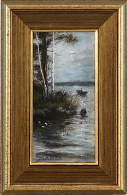 Insjölandskap by Ragnar LINDÉN
