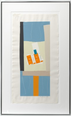 Harvest With Orange Stripe by Robert MOTHERWELL