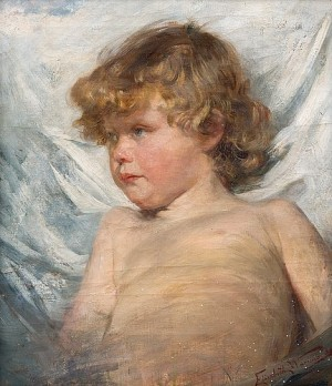 Portrait Of A Child by Elisabeth WARLING