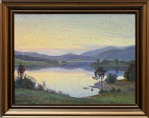 Landskap I Solnedgång by Carl JOHANSSON